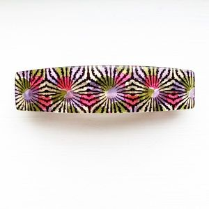 Vintage French kaleidoscope barrette hair clip